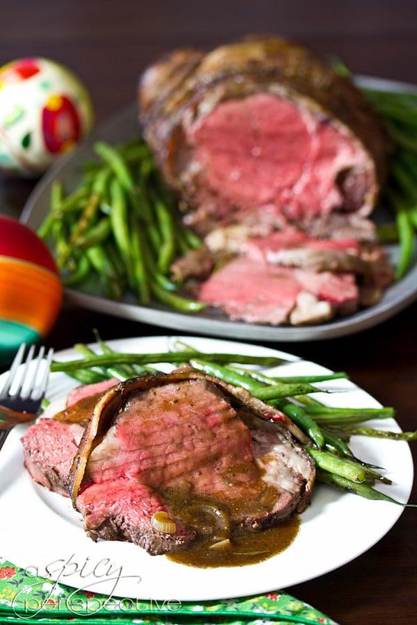Beef Tenderloin Recipe with Balsamic Glaze   ASpicyPerspective.com #holidays #crockpot #slowcooker #recipes
