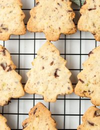 Best Pistachio Chocolate Shortbread Cookies Recipe #ASpicyPerspective #holidays #christmas