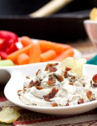 The Best Caramelized Onion Dip on ASpicyPerspective.com #gameday #superbowl