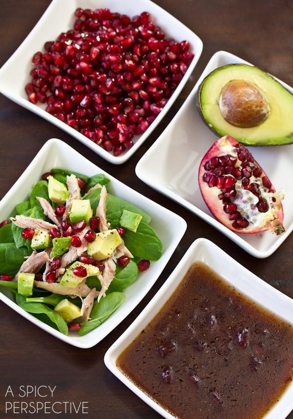 Easy Duck Confit Salad on ASpicyPerspective.com #holiday #salad