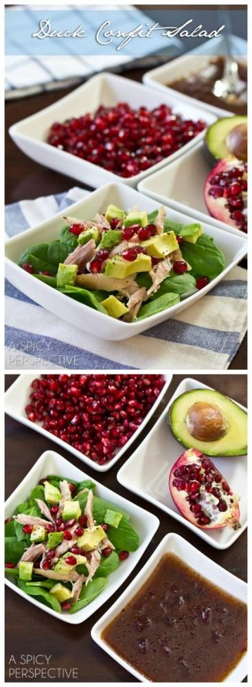 Duck Confit Salad on ASpicyPerspective.com #holiday #salad