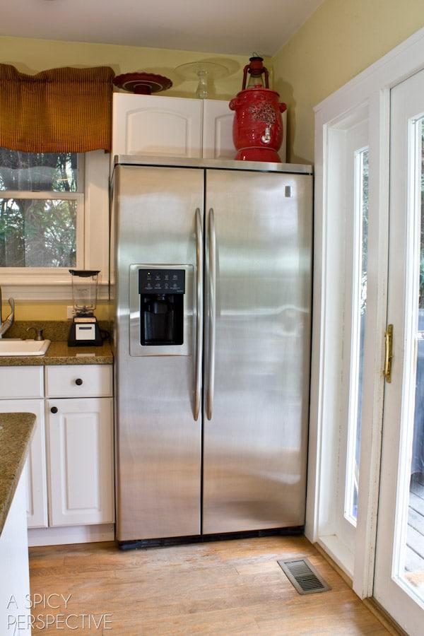 corner fridge - boo!