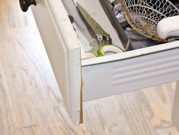 peeling drawers