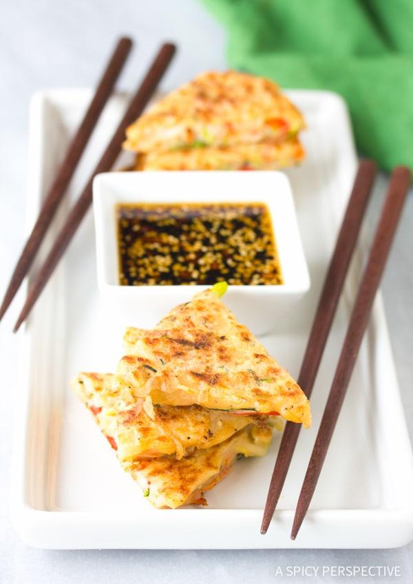 Amazing Korean Pancakes - Pajun (Pajeon) Recipe #vegetarian