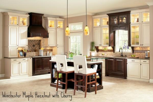 Shenandoah Cabinetry - Winchester Maple Hazelnut with Cherry Java K_LW_D5ZDF_K6KDF_HORZA_12_GEN