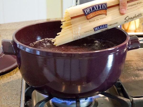 Cooking #DeLallo Pasta