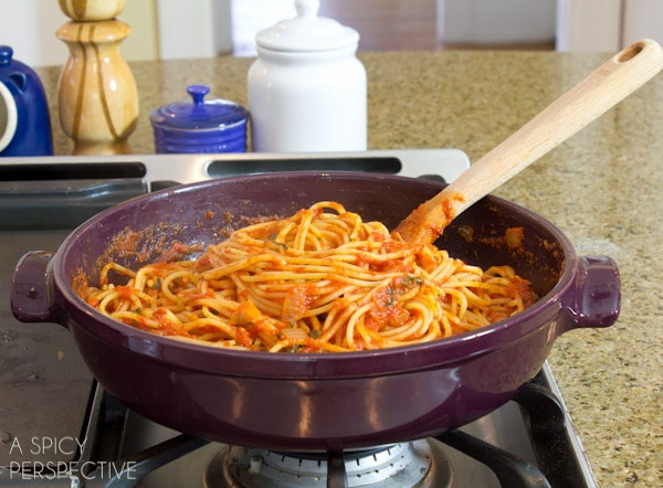 How to Cook Pasta   ASpicyPerspective.com #pasta #howto #cookingtips #delallo
