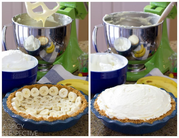 How to Make Pie #ASpicyPerspective #BananaCreamPie #BananaCreamPieRecipe #CreamPie #Easter #Dessert #Bananas #WhippedCream #BananaPie
