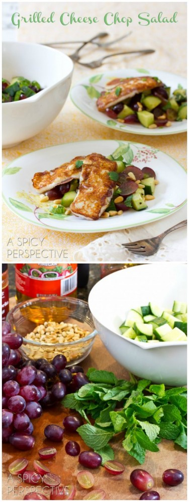 Fabulous Grilled Cheese Chop Salad with Apple Vinaigrette