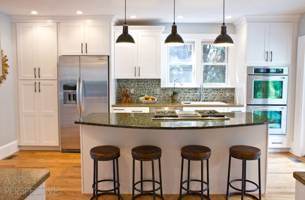 Barn Light Electric LED Pendants on ASpicyPerspective.com #remodel #barnlights #home