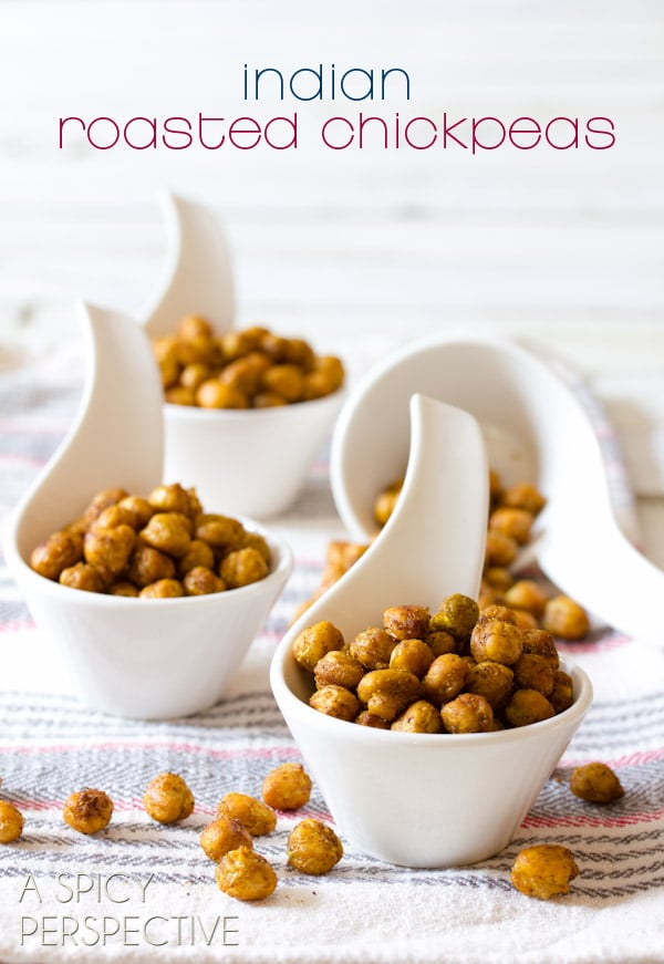 """Crunchy """"Indian"""" Roasted Chickpeas 