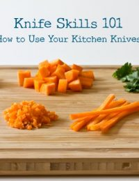 Knife Skills 101 on ASpicyPerspective.com #howto #knives #cookingtips