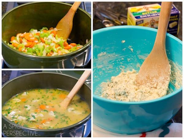 How To: Chicken N Dumplings Soup Recipe | ASpicyPerspective.com #soup #recipe #chicken