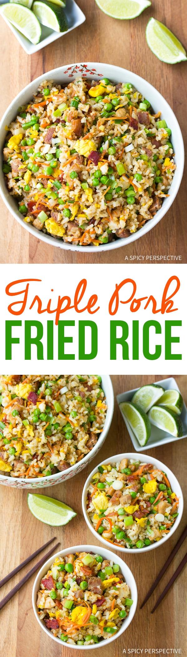 Hawaiian Triple Pork Fried Rice Recipe