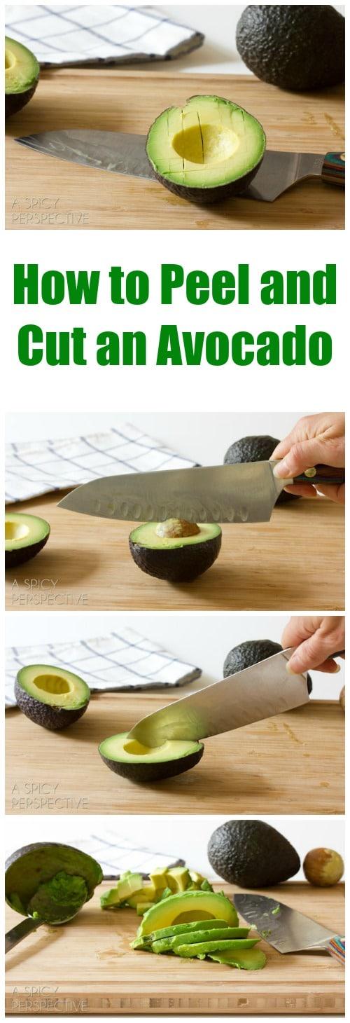 How to Peel an Cut an Avocado on ASpicyPerspective.com #howto #avocado