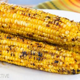 Kimchi Grilled Corn on the Cob | ASpicyPerspective.com #grilling #summer #corn #grilledcorn