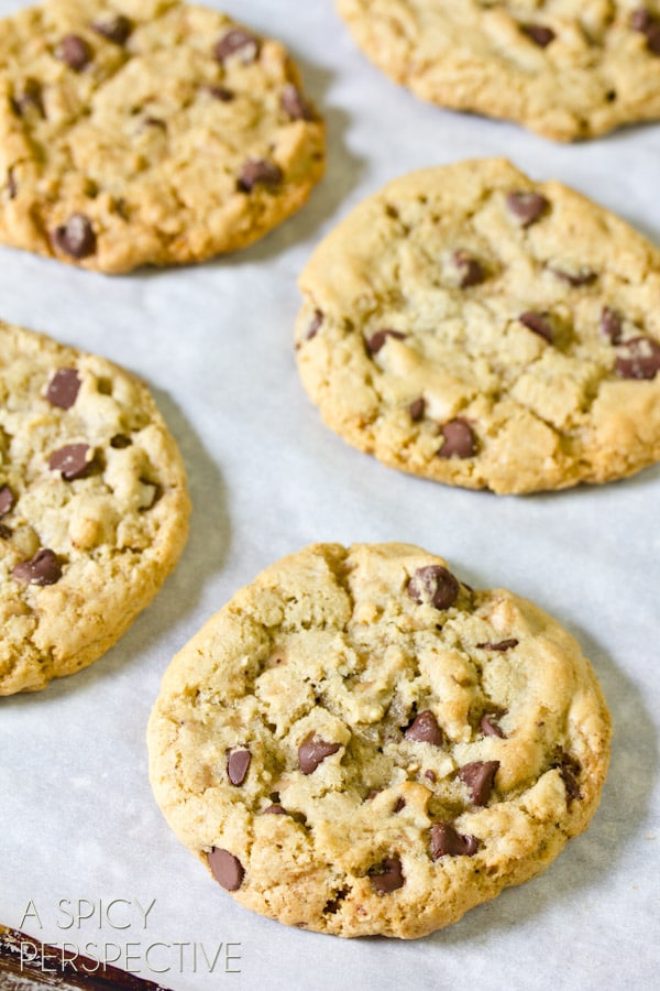 The Best Chocolate Chip Cookie Recipe | ASpicyPerspective.com #chocolatechip #cookies #recipe