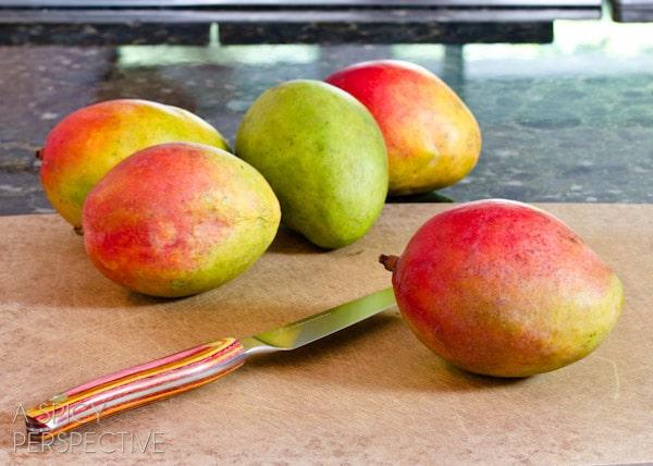 How to Cut a Mango | ASpicyPerspective.com #howto #cookingtips #mango