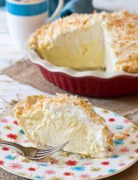 Coconut Cream Pie #ASpicyPerspective #CoconutCream #CoconutCreamPie #CoconutCreamPieRecipe #Coconut #Cream #Pie #Summer #Dessert