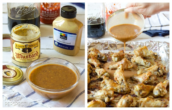 How to make Oven Chicken Wing with Apple Onion Dip | ASpicyPerspective.com #chicken #recipe #party #appetizer