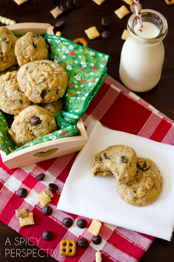 "Easy ""Compost Cookies"" a Salty-Sweet Monster Cookies Variation! 