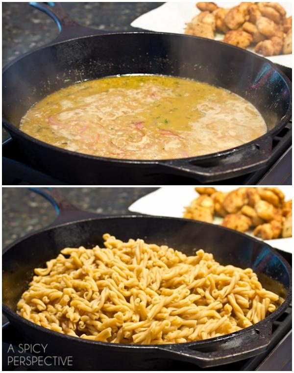 How to Make Chicken Picatta Pasta   ASpicyPerspective.com #pasta #chickenrecipe #chicken