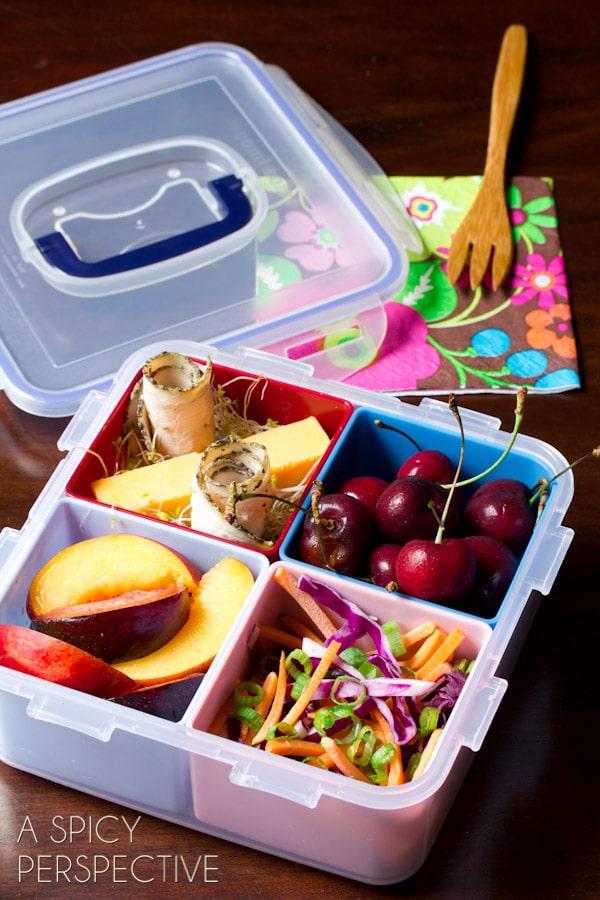 Healthy School Lunch Ideas   ASpicyPerspective.com #backtoschool #lunch #schoollunch #lunchbox