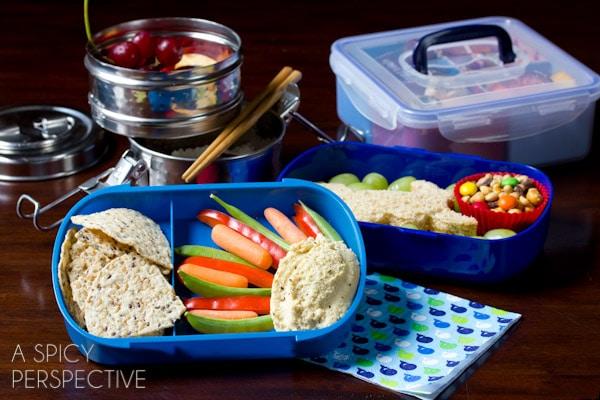 Healthy Lunch Ideas - #Bento   ASpicyPerspective.com #backtoschool #lunch #schoollunch #lunchbox