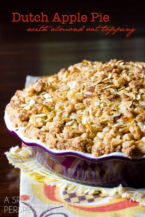 Classic Dutch Apple Pie | ASpicyPerspective.com #apple #applepie #fall #recipe