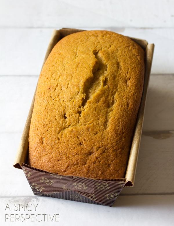 Pumpkin Pound Cake | ASpicyPerspective.com #pumpkin #fall #poundcake #chocolate