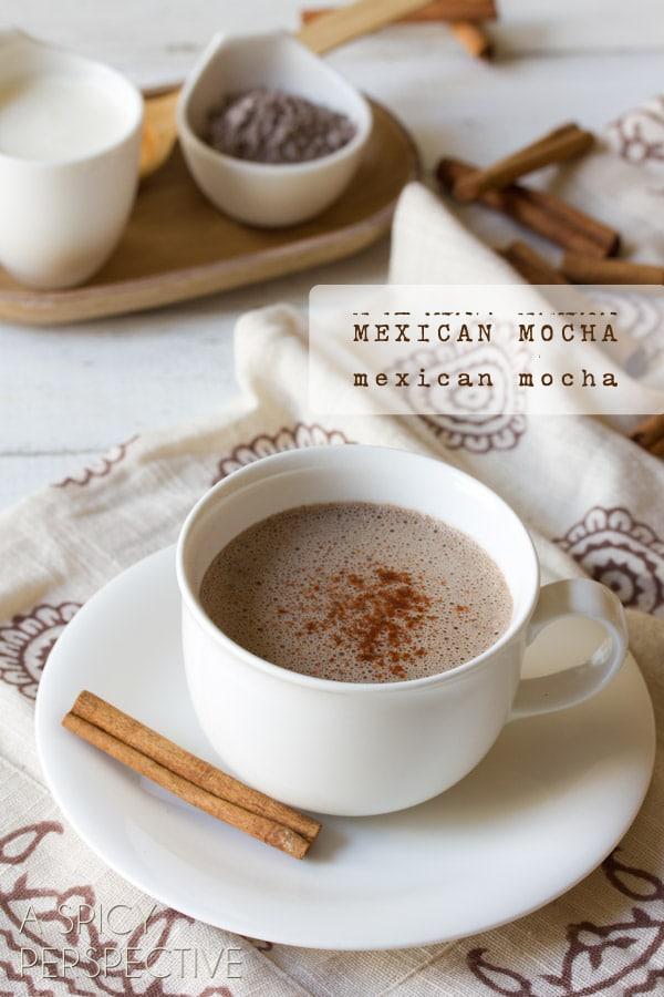 Mexican Mocha Recipe | ASpicyPerspective.com #chocolate #coffee #mocha #mexican