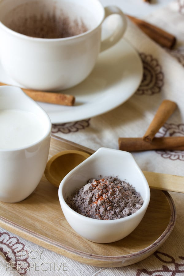 Mexican Mocha Mix Recipe | ASpicyPerspective.com #ediblegifts #chocolate #coffee #mocha #mexican