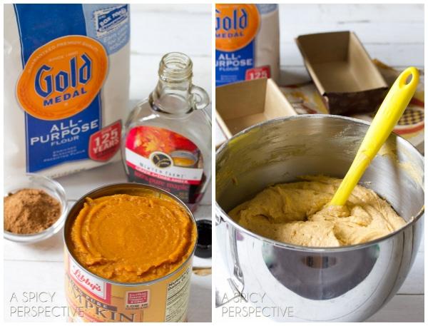 Making Pumpkin Pound Cake with Chocolate Ganache | ASpicyPerspective.com #pumpkin #fall #poundcake #chocolate