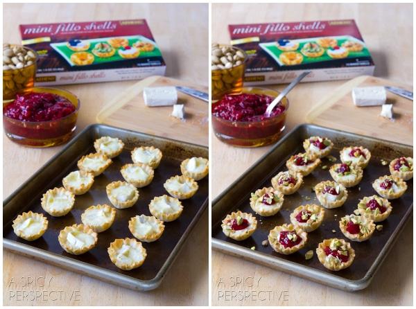 Brie Bites #ASpicyPersepctive #cranberrybriebites #briebites #bakedbriebites #puffpastry #holiday #christmas #thanksgiving #appetizers