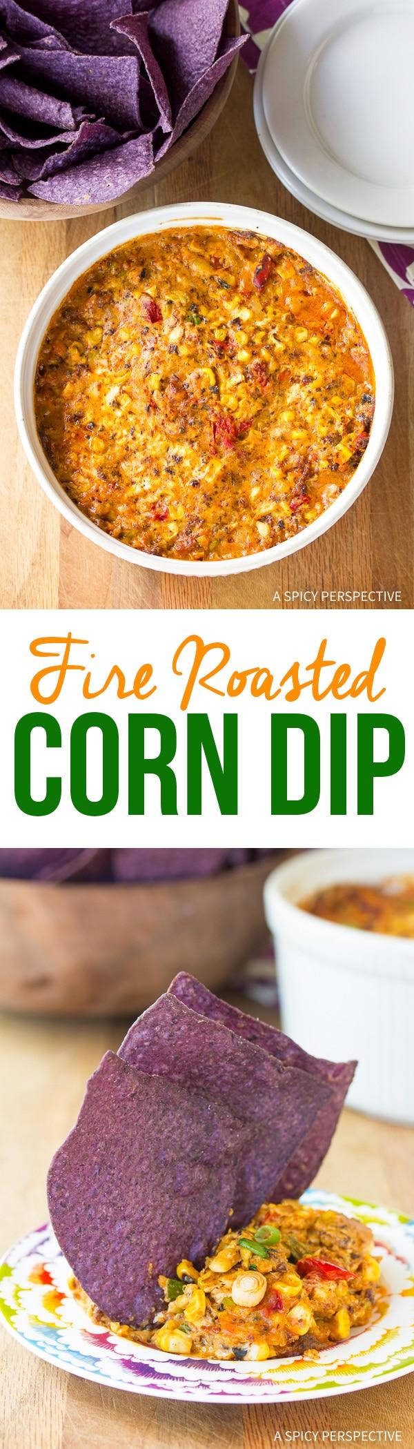 Spicy Fire Roasted Corn Dip Recipe