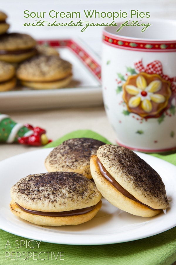 Sour Cream Cookies Chocolate Ganache Filling