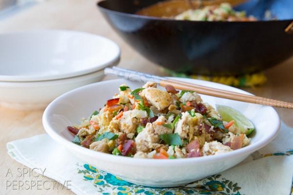 Cauliflower Fried Rice #Paleo #Healthy #GrainFree