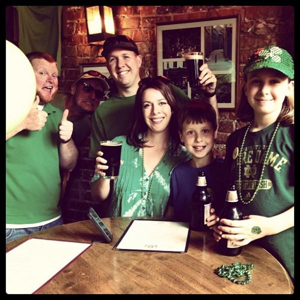 Collier Family on #StPaddysDay