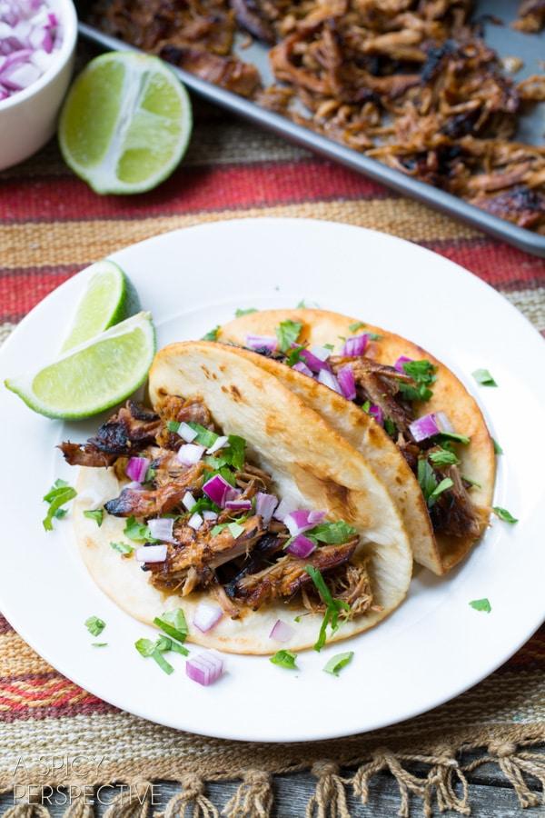 Best Slow Cooker Carnitas #carnitas #tacos #mexican #slowcooker #crockpot