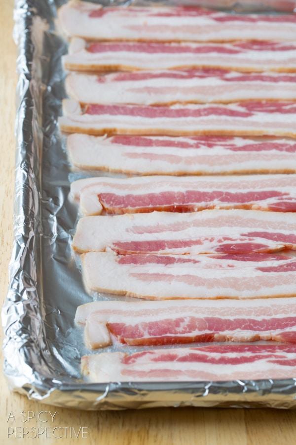 Baking Bacon #ASpicyPerspective #BaconinTheOven #Bacon #Oven #BakingBacon #HowtoCookBaconinTheOven #CookingBaconintheOven #HowtoBakeBacon #OvenBakedBacon #CrispyBacon #EasyBacon