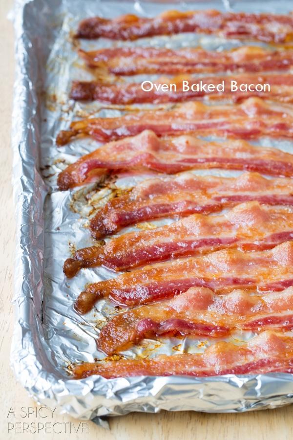 Bacon in the Oven #ASpicyPerspective #BaconinTheOven #Bacon #Oven #BakingBacon #HowtoCookBaconinTheOven #CookingBaconintheOven #HowtoBakeBacon #OvenBakedBacon #CrispyBacon #EasyBacon