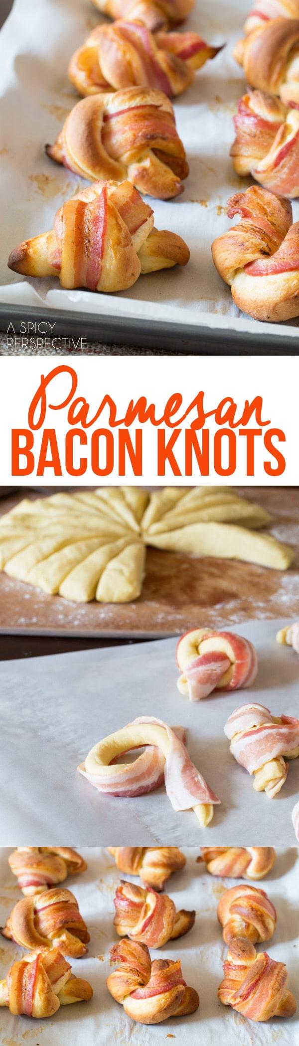 Parmesan Bacon Knots Recipe