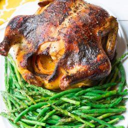Roasted Chicken Recipe with Honey Orange Gravy and Grilled Spring Veggies #dinner #chicken #recipe #giveaway