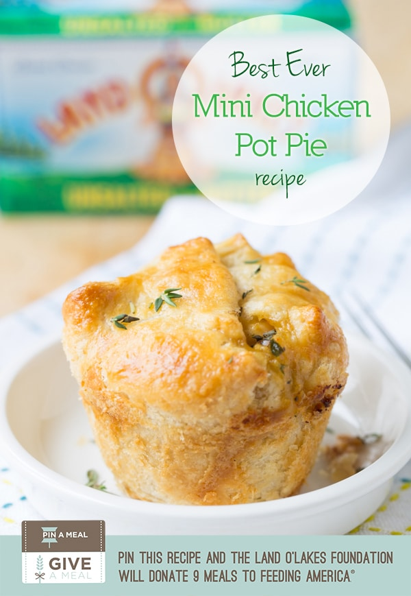 The BEST Chicken Pot Pie Recipe Ever - For Pin A Meal Give A Meal #chicken #potpie #recipe #giveameal #kitchenconvo