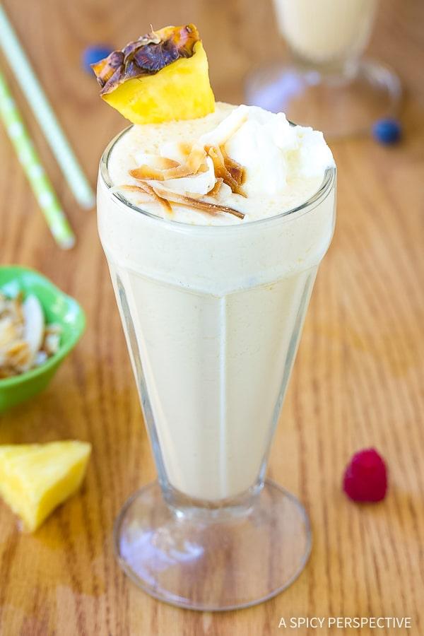 Creamy Fresh Pineapple Milkshake Recipe