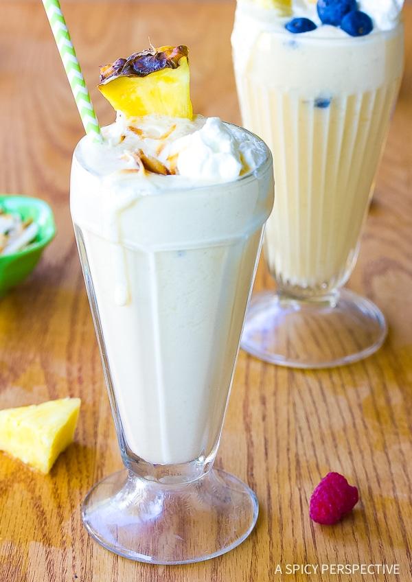 Fresh Pineapple Milkshake Recipe