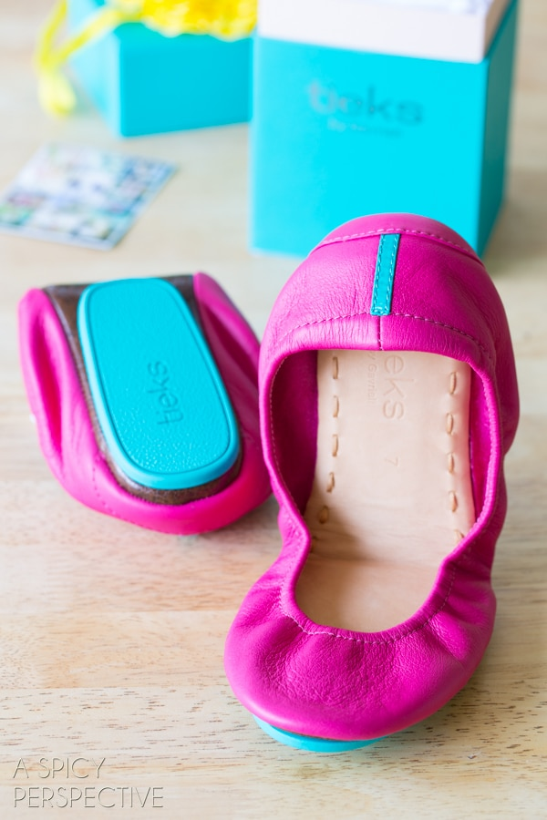 06bd74b858a4 Amazing Tieks Ballet Flats #Giveaway on ASpicyPerspective.com #shoes # fashion #spring