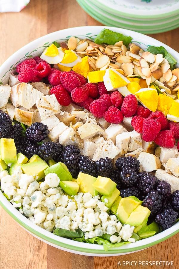 Perfect Summer Cobb Salad Recipe with Creamy Garlic Lime Vinaigrette