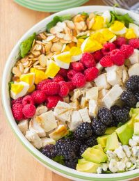 Summer Cobb Salad Recipe with Creamy Garlic Lime Vinaigrette