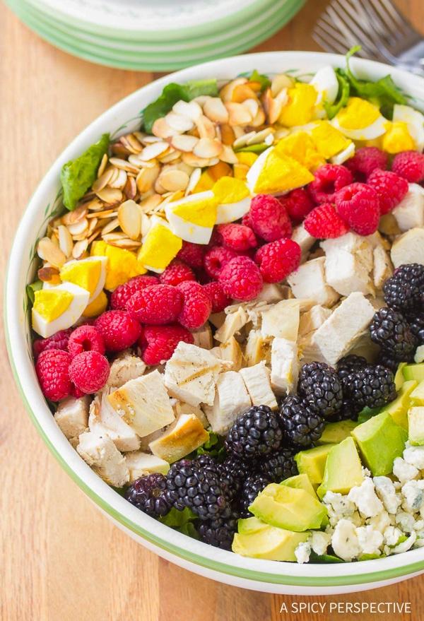Summer Cobb Salad Recipe with Creamy Garlic Lime Vinaigrette